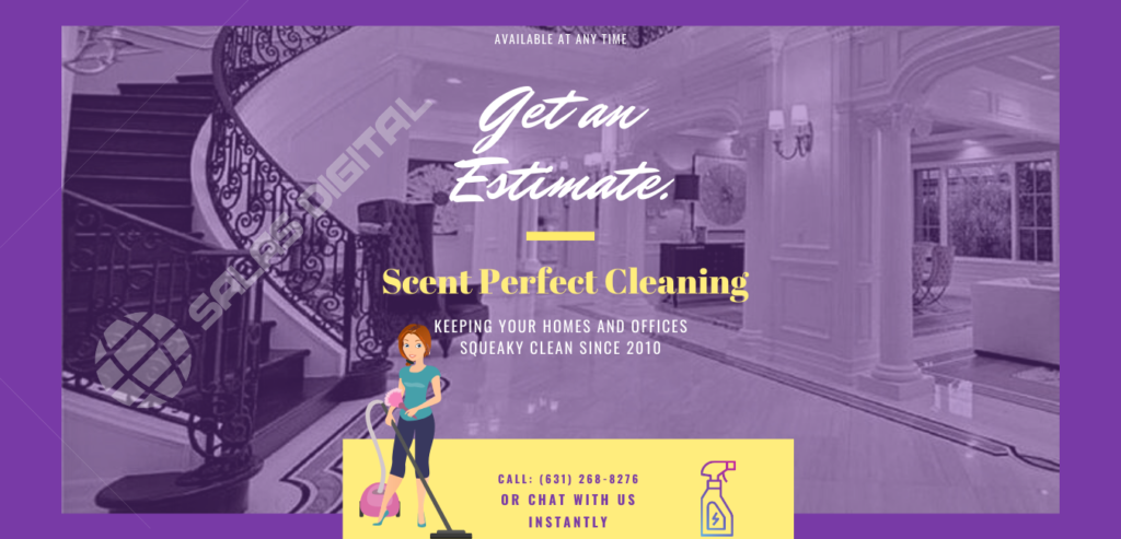 Blue Yellow Simple House Cleaning Services Flyer (1)
